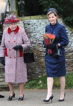 The Queen and Sophie, Countess of Wessex. via StyleList