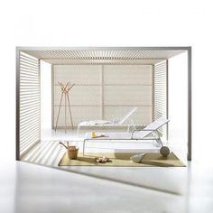 Colección Pavillons:  Pabellones totalmente configurables y muebles de aluminio personalizables que se integrarán perfectamente en entornos naturales.