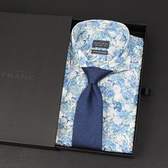 The new Albany cutaway shirt and Shifting blue blend tie   www.Grandfrank.com