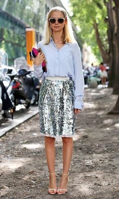 chambray & sequins