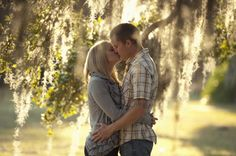Engagement Of Picture Couple Kissing | Fort Meyers, Florida Outdoor Engagement Shoot | Wedding Ideas and ...