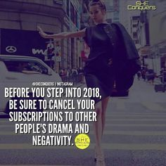 2017 ❤ Amazing year staying clear of negativity , built memories , started a new life , new home , new job and avoided all the hear say .Here's to continuing 2018 💁 Great Quotes, Quotes To Live By, Me Quotes, Motivational Quotes, Inspirational Quotes, Woman Quotes, Qoutes, Boss Quotes, This Is Your Life