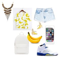 """""""oh no! you have gone bananas"""" by kamaria-diani ❤ liked on Polyvore"""