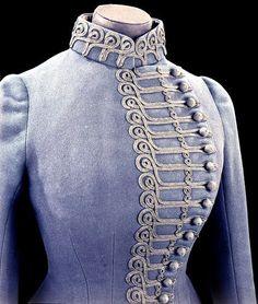 1885 Riding habit jacket Detail   John Redfern & Sons   V
