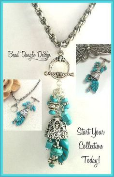 Hand Crafted Pewter Pendant & Dangle Beaded Necklaces...so many gorgeous choices!!!