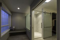 Accessible shower and changing bench