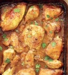 kg hoenderporsies Sout en vars gemaalde swartpeper na smaak 250 ml blatjang 250 ml volvet-mayonnaise 30 ml heuning 10 ml kg hoenderporsies Sout en vars gemaalde swartpeper na smaak 250 ml blatjang 250 ml volvet-mayonnaise 30 ml heuning 10 ml sterk. Curry Recipes, Meat Recipes, Chicken Recipes, Cooking Recipes, Chicken Meals, Braai Recipes, Meatball Recipes, Baked Chicken, Casserole Recipes