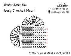 Easy Crochet Heart | Crochet Geek - Free Instructions and Patterns