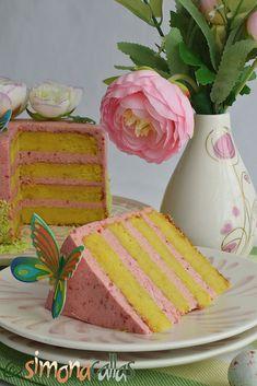 Tort cu lamaie si zmeura Gem, Bacon, Deserts, Bread, Food, Sweets, Brot, Essen, Jewels