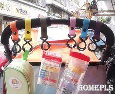 F85 5 шт./лот Пластиковые Детские Коляски Детская Коляска Коляска Вешалка Висячие 2 Крючка