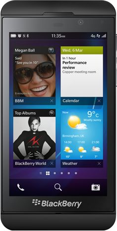 The new BlackBerry Z10