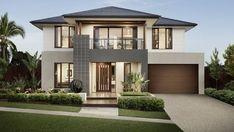 Modern Exterior House Designs, Modern Architecture House, Dream House Exterior, New Home Designs, Modern House Design, Exterior Design, Exterior Colors, Simple House Exterior, Simple House Design