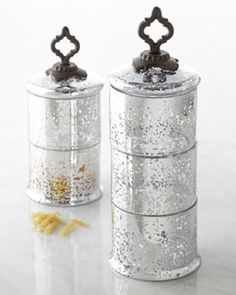 -4Q7P GG Collection Ogee-G Stacking Glass Jars