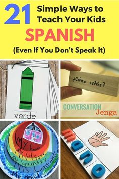 21 Great resources to help teach your kids Spanish - even if you don't speak it. Spanish is the second most-spoken language in the world. So here are 21 great resources to help teach your kids Spanish - even if you don't speak it. Preschool Spanish Lessons, Learning Spanish For Kids, How To Teach Kids, Spanish Activities, Spanish Language Learning, Teaching Spanish, Teaching Kids, Kids Learning, Foreign Language