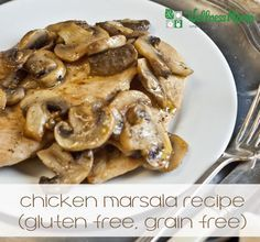 This easy Chicken Marsala recipe is simple to make and comes together quickly with chicken, spices, butter, mushrooms and marsala wine (or grape juice).