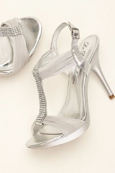 Crystal T-Strap High Heel Sandal at David's Bridal