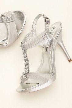 Crystal T-Strap High Heel Sandal at David's Bridal