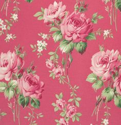 Free Spirit, Tanya Whelan, Barefoot Legacy Collection, Stemmed Roses in Pink...one yard. $8.75, via Etsy.