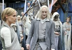 Amanda Rosewater and Datak Tarr, with more Castithans in the background at the Humiliation Ritual.
