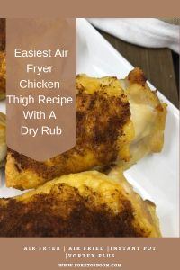 Easiest Air Fryer Chicken Thigh Recipe With A Dry Rub  boneless skinless chicken thighs air fryer recipe air fryer chicken thighs bone in air fryer chicken thighs bone in skin on how long to cook bone in chicken thighs in air fryer power air fryer boneless skinless chicken thighs air fryer chicken thighs keto power air fryer oven chicken thighs chicken fryer thigh recipes