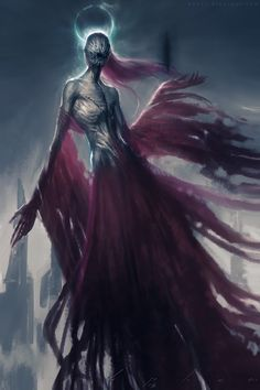 Wraith - A Scottish word, first used in English in 1513. A wraith is an apparition, vision, or double of another living person. Its appearance is commonly seen as an omen that the person being doubled is about to die. - Picture credit: bao pham thien bao wraith ghost specter spectre phasmophany fantasy horror digital art - picslist.com