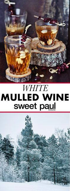A fabulous spiced mulled wine made with WHITE WINE instead of the normal red! Mulled White Wine, Mulled Wine, Red Wine, Spiced Wine, Sweet Paul, Personalized Wine, Wine Delivery, Holiday Cocktails, Wine Making