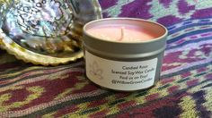 Candied Rose Scented Soy Candle by WillowGroveCandles on Etsy
