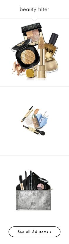 """beauty filter"" by noviii ❤ liked on Polyvore featuring beauty products, makeup, beauty, fillers, accessories, cosmetics, magazine, eye makeup, bags and eyebrow makeup"