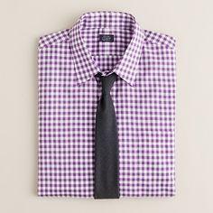 cf35947e28f Grape gingham. Fitted Dress Shirts