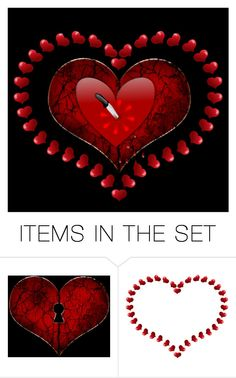 """Broken Heart"" by wickedangel ❤ liked on Polyvore featuring art"