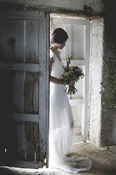 Vestido de novia vaporoso. Colección Mélancolie. Alejandra Svarc. Wedding