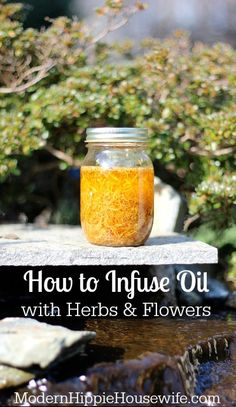 I use infused herbs and flowers in everything from cooking oils to healing salves, using both the Solar Method (in the summer) and slow cooker method (in the winter). Here's how! - How to Infuse Oil with Herbs and Flowers.