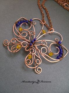 pretty and creative butterfly pendant