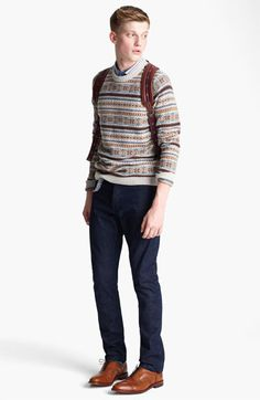 Topman Sweater, Polo & Slim Fit Jeans | #Nordstrom #BritishStyle