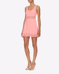 $445 Elizabeth and James Coral Glow Kenton Fit and Flare Dress 6 NWT E297 #ElizabethandJames #FitFlare #Cocktail