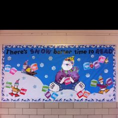 winter bulletin boards for reading | My winter reading bulletin board | Do it yourself projects