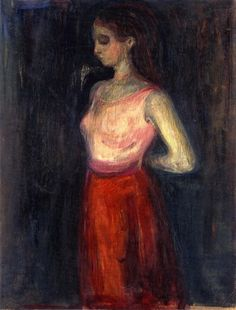 Study of a Model ~ Edvard Munch