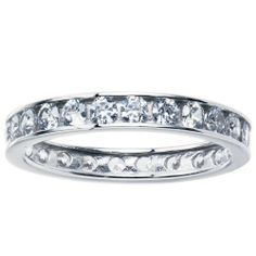 Solid 14K White Gold Cubic Zirconia Eternity Toe Ring - Size 3 Body Candy. $190.26