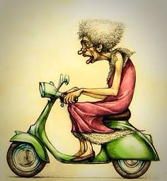 Me in Twenty Years Time. . .Or P'haps Ten. . .Or, Oh, Okay Then. . . How About Five? Getting Older Humor, Senior Humor, Art Impressions, Through The Looking Glass, Funny Animal Videos, Whimsical Art, Funny Cartoons, Funny Art, Cartoon Drawings