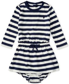 Ralph Lauren Baby Girls' Striped Fit & Flare Dress