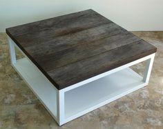 Reclaimed wood coffee table. $800.00, via Etsy.