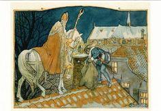 Sint en Piet op het dak - Cornelis Jetses