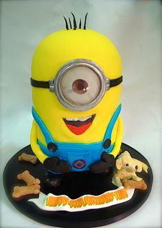 Minion cake!! by debbiedoescakes, via Flickr