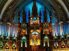 Notre-Dame-Montreal #cathedrals
