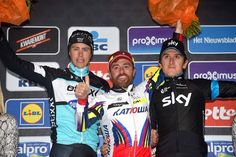 Luca Paolini (Katusha) tops the Gent-Wevelgem podium