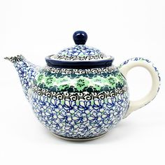 "5 1/4""H x 5""W x 8 1/4""L - Quality 1 Guaranteed from the renowned Ceramika Artystyczna Boleslawiec - Polish Pottery is Oven, Microwave, and Dishwasher Safe! - Hand Painted and Stamped by Highly Skilled"