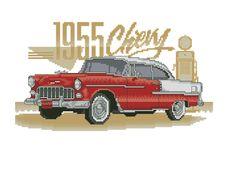 Kreuzstich 1955 Chevy red