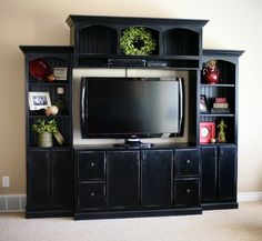 Custom Wall Media/Entertainment Center | Do It Yourself Home Projects from Ana White