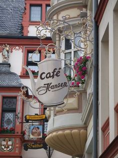 European cafe sign