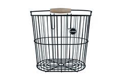 black rear basket for the market.